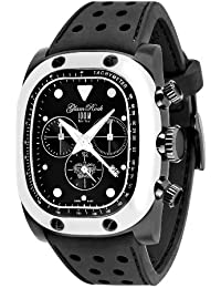 Glam Rock Unisex Quartz Watch With Black Dial Analogue Display And Silicone Bracelet 0.96.2459