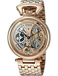Stuhrling Original Men's Automatic Watch with Rose Gold Dial Analogue Display and Rose Gold Stainless Steel Bracelet 797.03