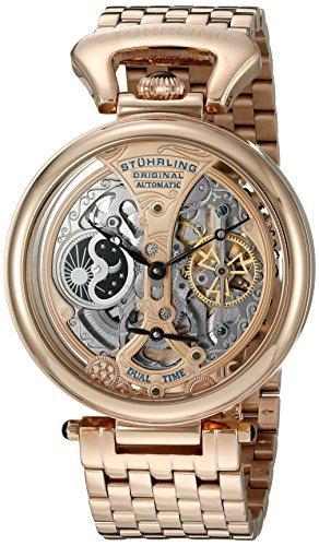 Stuhrling Original - Special Reserve - 797.03 - Montre bracelet - Automatique - Affichage - Analogique - Bracelet - Acier inoxydable - Doré - Cadran - Rose - Homme