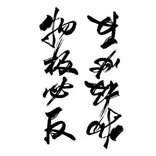 2 Stück Kreative Tattoos Aufkleber-temporäre Tätowierung chinesische Wörter Tattoos Entwurf (Temporäre Tattoos Für Männer Chinesische)