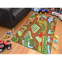 Childrens Large Farmyard Play Mat. Size 80cm x 120cm