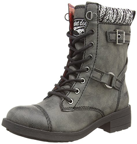Rocket Dog Thunder, Damen Combat Boots, Schwarz (Black AG7), 39 EU (6 Damen UK) (Boots Lace-up Combat)