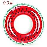 Sandía flotadores inflables Anillo de natación Natación Piscina para adultos de flotación flotadores Deportes Acuáticos Piscina Piscina de flotación 90 juguetes círculo rojo