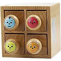 Decopatch Maildor Appreciation Boîte avec 4tampons encreurs en bois Multicolore