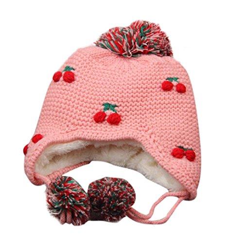 Babybekleidung Hüte & Mützen Longra Baby Kinder Mädchen Winter Earflap Pfirsich Kinder Mütze stricken Hüte kalt Cap Warm (12-72 Monate ) (Kostüm Biene Junge Kleiner)