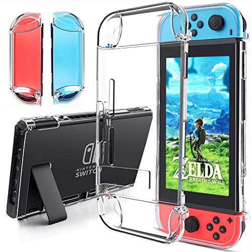 Funda para Nintendo Switch - Gogoings Tecnología de Absorción de Golpes Carcasa con Protector Acolchado TPU Transparente Premium Funda para Nintendo Switch Console y Joy Cons