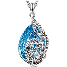 """KATE LYNN - """"El Lago de los Cisnes"""" Collar Mujer Colgante - Cristales SWAROVSKI® Azul"""