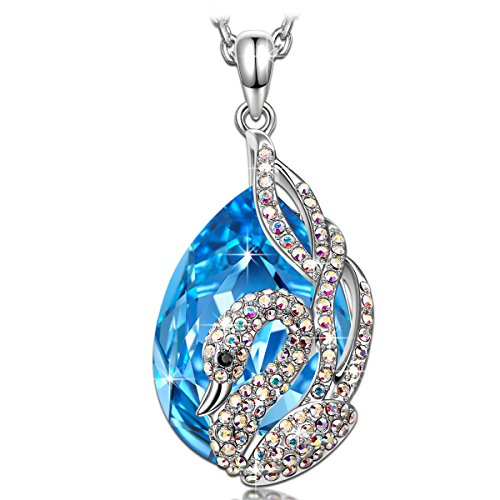 KATE LYNN El Lago de los Cisnes Collar Mujer Colgante Cristal Azul...
