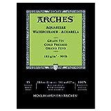 Arches blocco per acquerello incollato 1 lato (12 fogli) - grana fina - 185 g/mq - A5