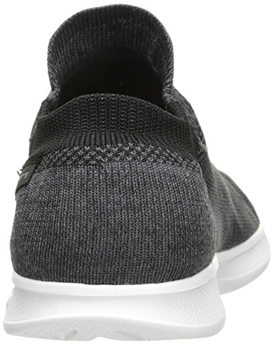 Skechers Go Step Lite-Ultrasock, Allenatori Donna Nero (Black/white)
