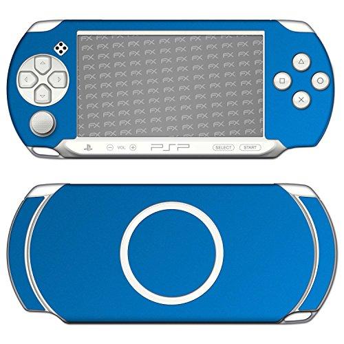 """Skin Sony PSP-E1000 / E1004 """"FX-Chrome-Soft-Blue"""" Designfolie Sticker"""