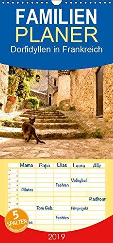 Dorfidyllen in Frankreich - Familienplaner hoch (Wandkalender 2019 , 21 cm x 45 cm, hoch): Mittelalterliche Gassen, Fachwerk und blumengeschmückte ... (Monatskalender, 14 Seiten ) (CALVENDO Orte) - Haut-gasse