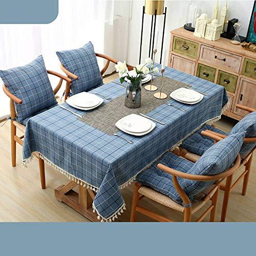 Bove Nappe résistant à l'eau, Coton et Lin Art Décoration nappes ménagères pour Tables rectangulaires-D-120x160Cm(47x63Pouces)