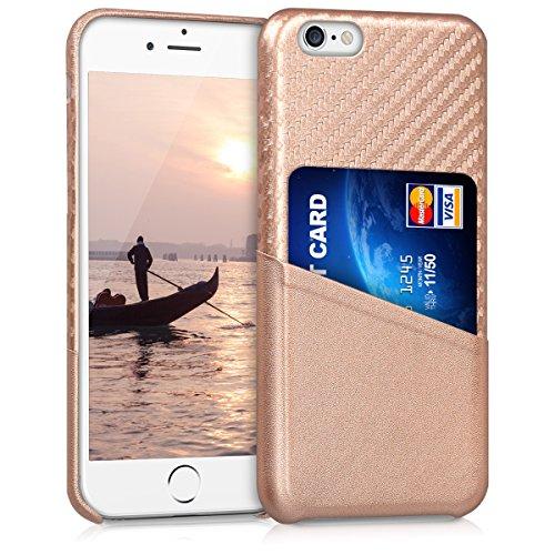 kwmobile Hülle für Apple iPhone 6/6S - Backcover Case Handy Schutzhülle Kunststoff - Hardcase Cover in Rosegold