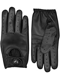 Men's Genuine Leather Winter Driving Gloves Fashion Dress Motorbike Soft Full-Fingers Gloves