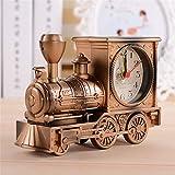 DsfddaeS Horloge, Horloge européenne, Horloge de Locomotive Antique créative, décoration de Moto rétro, Horloge d'étudiant Cadeau, décorations pour la Maison,Bronze...