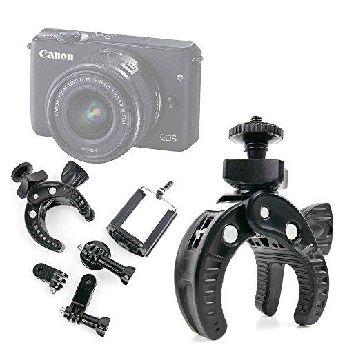 DURAGADGET Kit Supporto Bicicletta per Fotocamera Camera Easypix W1024 Full HD | Fujifilm FinePix XP120 | X100F | Nikon A10 Coolpix Silver | Coolpix A100