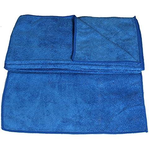 Panni in microfibra 30x 30cm salviettine detergenti per la casa e auto cura (molti colori e quantità disponibile) blu