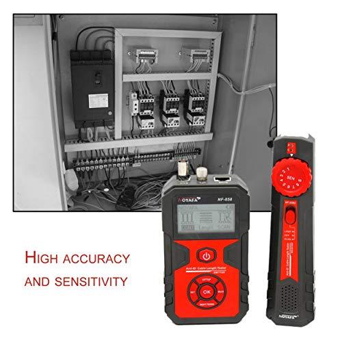 Dailyinshop NF-858 Kabel Linie Locator Tragbare Draht Tracker Kabel Tester Finder für Netzwerkkabel Prüfung RJ11 RJ45 BNC Kabel Linie (Farbe: rot & schwarz)