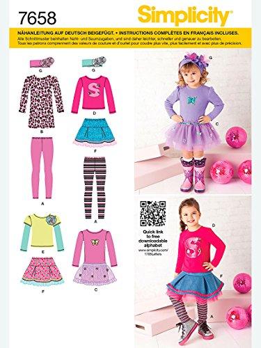 Simplicity Schnittmuster 7658.BB Kleid (Twill Mantel Kinder)