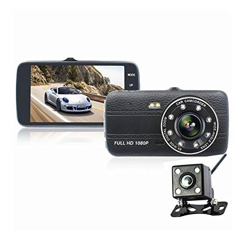 crewell Driving Recorder 4,0Zoll Hochauflösende vorne und hinten Dual Lens Vision mit G-Recorder (Zoom Flash Lcd)