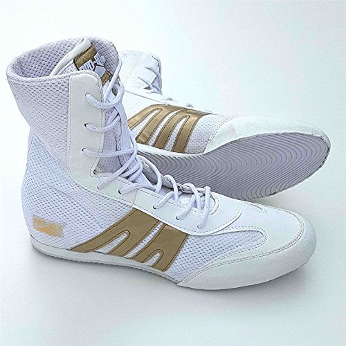 Pro Box Adult Boxing Boots White/Gold - 7