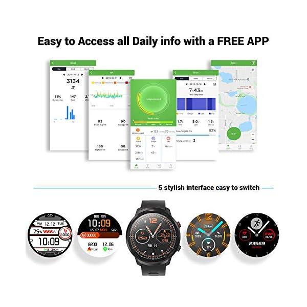 CatShin Smart Watch Tracker de Actividad, Pantalla táctil smartwatch Fitness Tracker, Reloj Deportivo Bluetooth IP67 a Prueba de Agua con Monitor de frecuencia cardíaca, Compatible con Android iOS 6