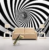 BIZHIGE 3D Wand Foto Wandbilder Für Wohnzimmer Tapete 3D Wandbilder Zibra Linien Hintergrund Mural 180 × 120 cm