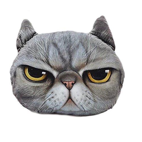 3D Meow Großkatze Dekoration Throw Kissen für Weihnachten Thanksgiving Geschenk wütend Cat Style