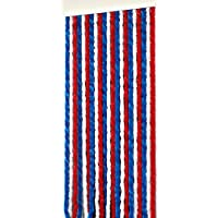 Türvorhang Flauschvorhang Insektenschutz 90x200 cm, blau-weiss-rot NEU!