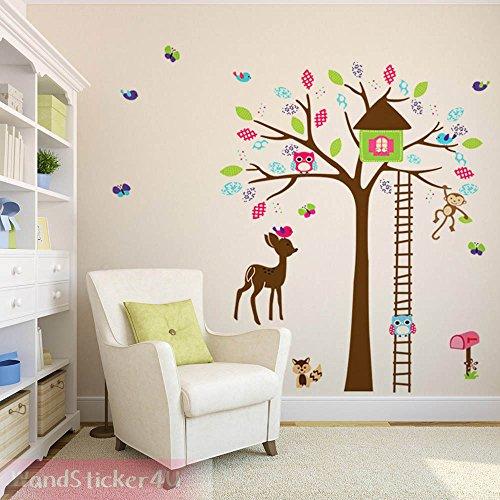 sticker4u-mural-motif-arbre-pour-enfants-avec-animaux-coton-chouette-singe-oiseaux-nichoir-cerf-heri