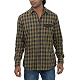 Inego Men's Casual Shirt (Beige )