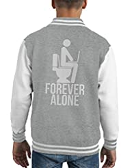 Forever Alone Kid's Varsity Jacket