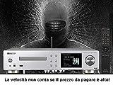Pioneer NC 50 DAB SILVER  Lettore Network audio amplificato  2 x 50 Watt