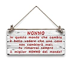 Idea Regalo - Lupia Shabby Plates Targa Decorativa da Appendere ''Nonno, Legno,, 18x8x1 cm