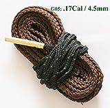 Corda a serpente per pulizia di carabine, pistole, fucili da caccia da 12/20/28/410 gauge, calibro 6/7/9 mm, calibro .17/.22/.40/.50/.308/.380, G05_UK : .17 Cal & 4.5mm