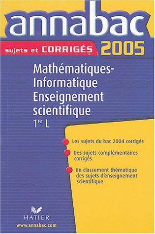 Mathématiques, Informatique, Enseignement scientifique 1e L