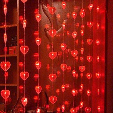 ZJ 1.6Mx2M Liebe rot Crystal LED String Light 120 LED , 110-120v (120-volt-kette)