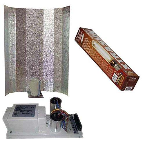 multihobbie® Kit éclairage culture intérieur ballast 600 W + Ampoule Dual 600 W + réflecteur