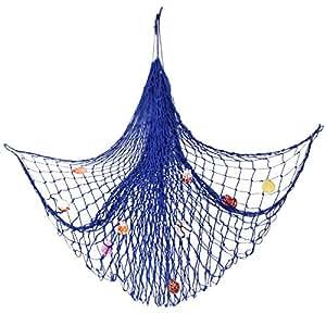 Bestgle mediterranean style wall hanging nautical for Amazon fishing net