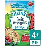 Heinz Petit Fruits Et Yaourt 4 Mths + 125G - Paquet de 4