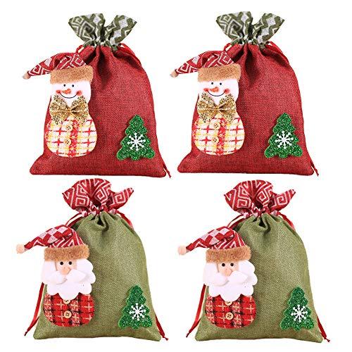 Bolsas de regalo con cordón navideño