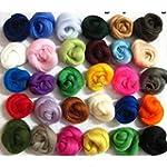 SOLEDI Set of 36 Colours Merino Wool...