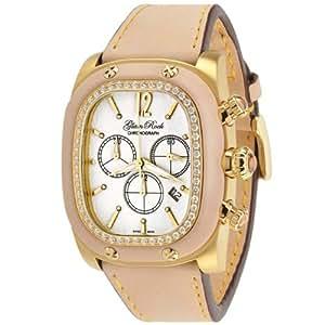 Glam Rock Femmes GR70109D1 Gulfstream Collection Chronographe diamant accentués montre en cuir beige