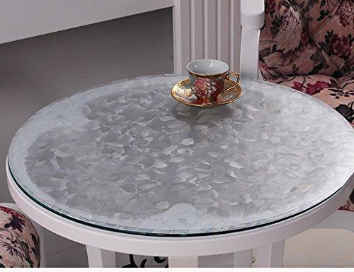 Nappes Ronde en Verre Souple PVC Transparent Givré Étanche Table Mat Table De Mat Table en en Plastique (2.0mm) (Taille : Diameter 120 cm)