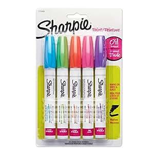 Sharpie 1770459 marqueur à peinture - marqueurs à peinture (Bleu, Vert, Orange, Rose, Violet, Multicolore, Moyen)