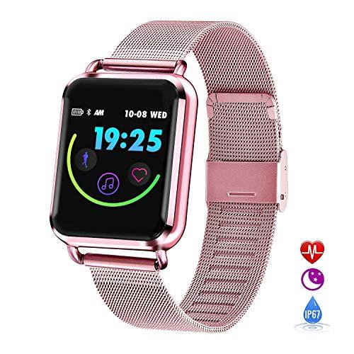 Grist CC Smartwatch Fitness Uhr Trackers IP67 Wasserdicht Mit Pulsmesser Smart Watch für Damen Herren Kinder Android iOS -