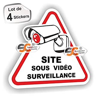 'Sticker Videoüberwacht)