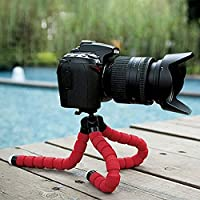 Hongfei (red)Tripod Stand Holder, Flexible Joints Sponge Octopus Tripod Support Gripping Stand For Digital Camera&iphone