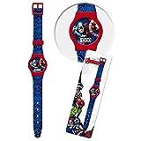 """Grazioso orologio digitale da polso che raffigura i personaggi di """" Avengers """" del mondo Marvel. L'orologio completamente in plastica è dotato di Datario e secondi. Dimensioni confezione: Cm. 29X9."""